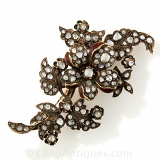 Antique Rose-Cut Diamond Brooch - 2
