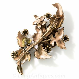 Antique Rose-Cut Diamond Brooch