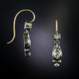 Antique Rose-Cut Diamond Dangle Earrings - 2