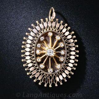 Antique Rose Gold Diamond Locket