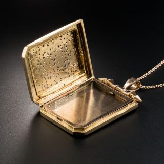 Antique Rose Gold Pierced Locket