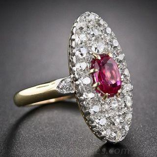 Antique Ruby & Diamond Ring