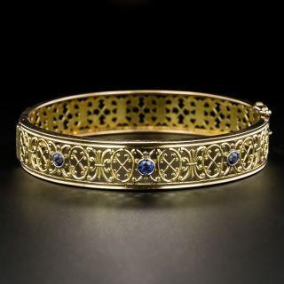 Antique Sapphire Bangle Bracelet - 2