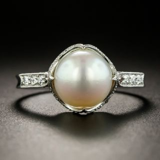 Antique Shreve & Co. Natural Pearl Ring - GIA - 1