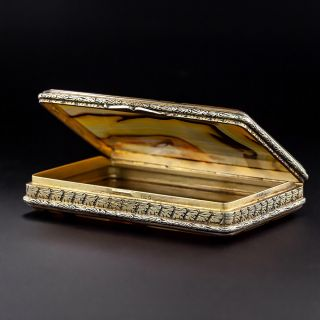 Antique Silver and Agate Box