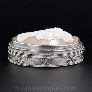Antique Silver Cameo Box