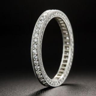 Antique Style Diamond Eternity Band - Size 6 1/4