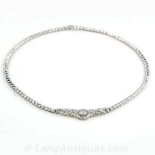Antique Style Diamond Necklace