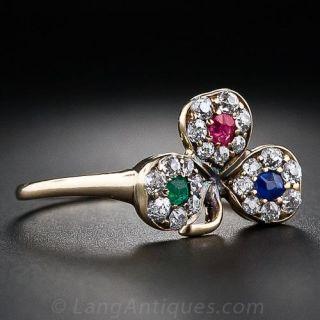 Antique Three Leaf Clover Ring