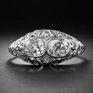 Antique Twin Diamond Ring