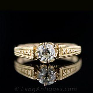 Antique Victorian .65 Carat Diamond Solitaire