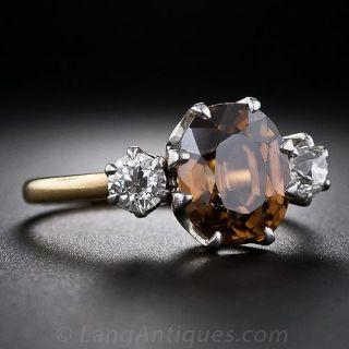 Antique Zircon and Diamond Ring