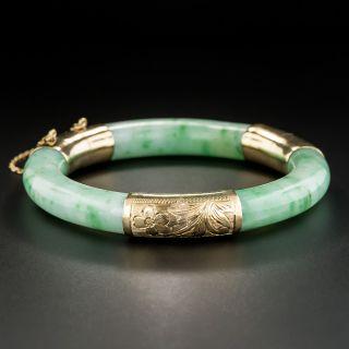 Apple Green Hinged Jade Bangle Bangle