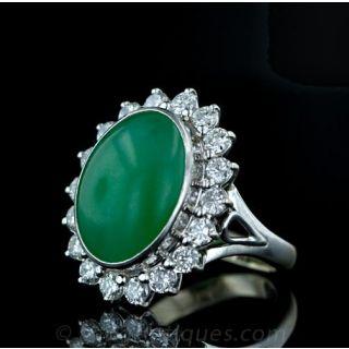 Apple Jade Diamond Cocktail Ring