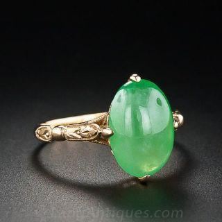 Apple Jade Solitare Ring