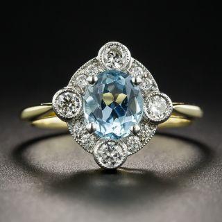 Edwardian Style Aquamarine and Diamond Ring  - 1