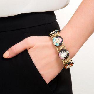 Arita Button Bracelet with Dragon Links