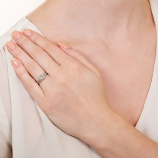 Art Deco 1.00 Carat Diamond Engagement Ring - GIA G SI1