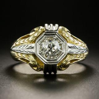 Art Deco 1.00 Carat Diamond Gent's Ring - 2