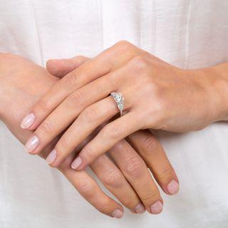Art Deco 1.00 Carat Diamond Platinum Engagement Ring - GIA F VS2