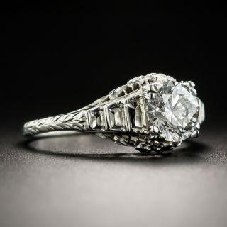 Art Deco 1.00 Carat Diamond Solitaire Engagement Ring - GIA E SI2
