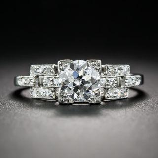 Art Deco 1.01 Carat Diamond Engagement Ring - GIA F VS1 - 1