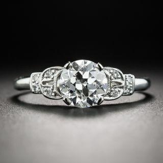 Art Deco 1.01 Carat Diamond Platinum Engagement Ring - GIA E VS1 - 2