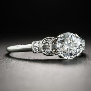 Art Deco 1.01 Carat Diamond Platinum Engagement Ring - GIA E VS1