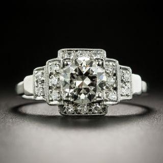 Art Deco 1.01 Carat Diamond Platinum Engagement Ring - GIA - 2