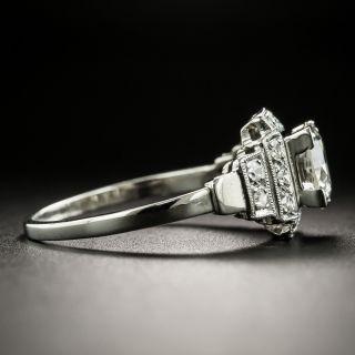 Art Deco 1.01 Carat Diamond Platinum Engagement Ring - GIA