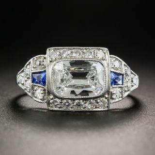 Art Deco 1.02 Carat Antique Cushion-Cut Diamond Ring -  GIA - D VS1
