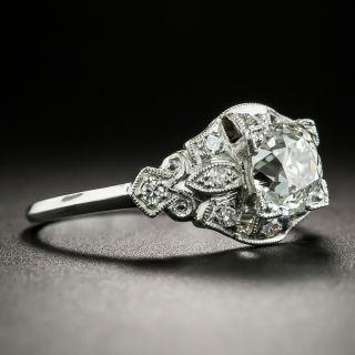 Art Deco 1.02 Carat Diamond Engagement Ring - GIA H VS2