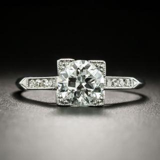 Art Deco 1.02 Carat Diamond Ring - GIA H SI1 - 2