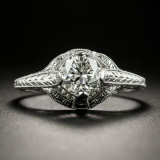 Art Deco 1.04 Carat Diamond Engagement Ring - GIA FSI1 - 2