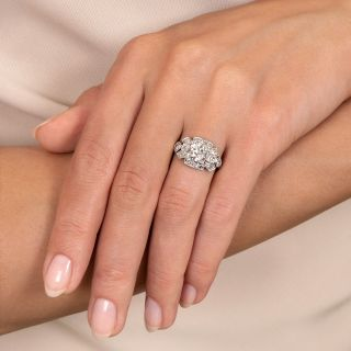 Art Deco 1.04 Carat Diamond Engagement Ring - GIA I VS2