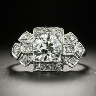 Art Deco 1.04 Carat Diamond Engagement Ring - GIA I VS2 - 2