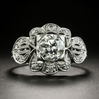 Art Deco 1.04 Carat Diamond Engagement Ring - GIA K VS2  - 1