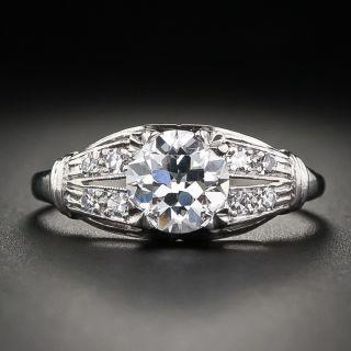 Art Deco 1.04 Carat Diamond Platinum Engagement Ring - GIA G VS1 - 1