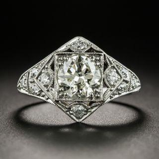 Art Deco 1.04 Carat Diamond Platinum Engagement Ring - GIA - 2