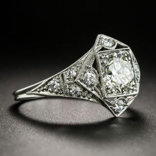 Art Deco 1.04 Carat Diamond Platinum Engagement Ring - GIA