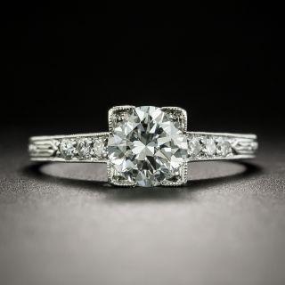 Art Deco 1.05 Carat Diamond Engagement Ring - GIA E VVS2 - 2