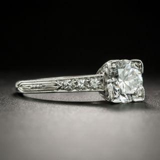 Art Deco 1.05 Carat Diamond Engagement Ring - GIA E VVS2