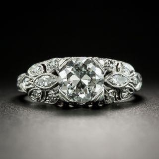 Art Deco 1.05 Carat Diamond Engagement Ring - GIA F VS1 - 2