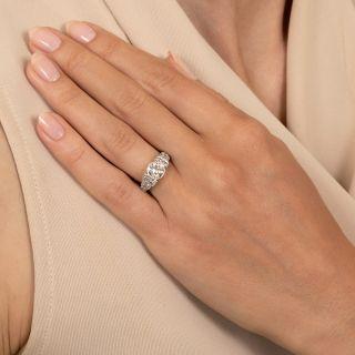Art Deco 1.05 Carat Diamond Engagement Ring - GIA H VS1