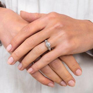 Art Deco 1.05 Carat Diamond Platinum Engagement Ring - GIA I SI2