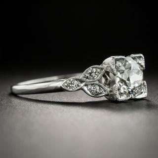Art Deco 1.05 Carat Diamond Platinum Ring GIA L SI1