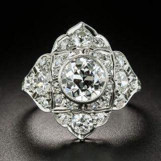 Art Deco 1.06 Carat Diamond Platinum Ring - GIA D VS2 - 2