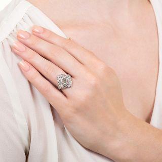 Art Deco 1.06 Carat Diamond Platinum Ring - GIA D VS2