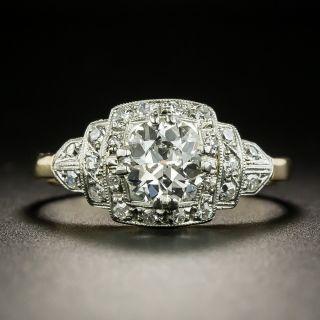 Art Deco 1.06 Carat Two-Tone Diamond Engagement Ring - 1
