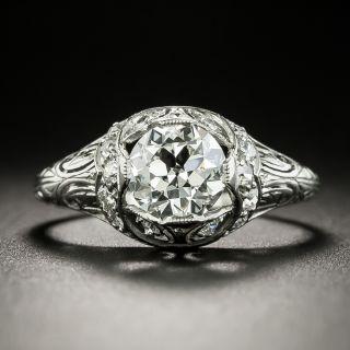 Art Deco 1.07 Carat Diamond Engagement Ring - GIA G VS1 - 3